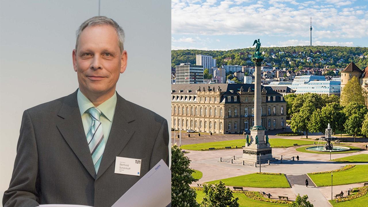 Foto: TUM Alumnus & Mentor Berthold Schönhoff (privat) /  © Stuttgart-Marketing GmbH, Werner Dieterich