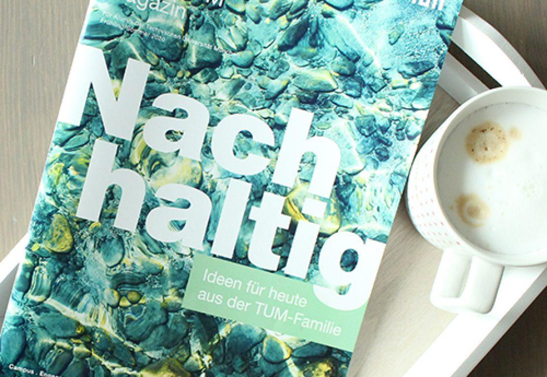 Eine Ausgabe des Alumni-Magazins KontakTUM.