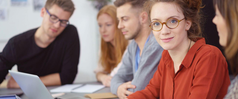 Studierende in einem Career Workshop
