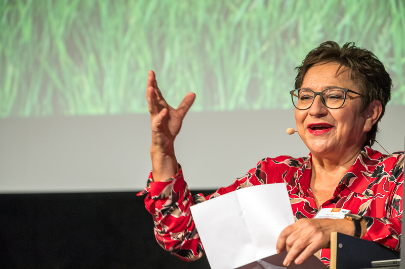 Speaker at the Women of TUM Talks 2018.