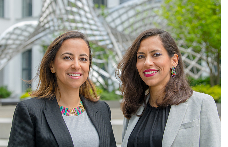 Forscherinnen Yasmine und Heba Aguib