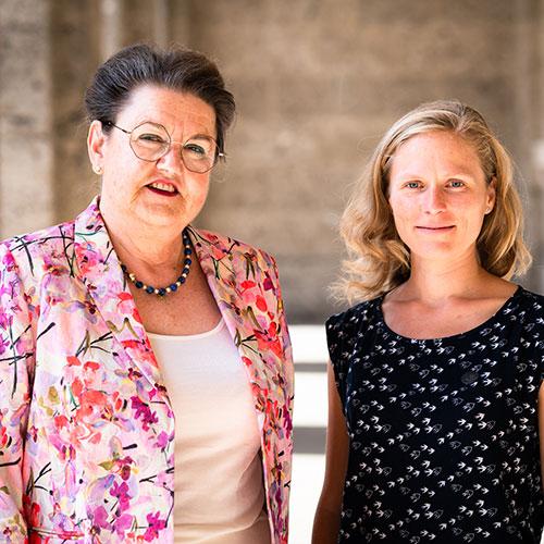 Mentoring Tandem Frederike Ott and Nora Els