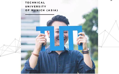 Eine Ausgabe des Alumni-Magazins von TUM.Asia.
