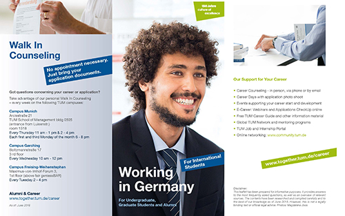 Screenshot des Working in Germany-Flyers