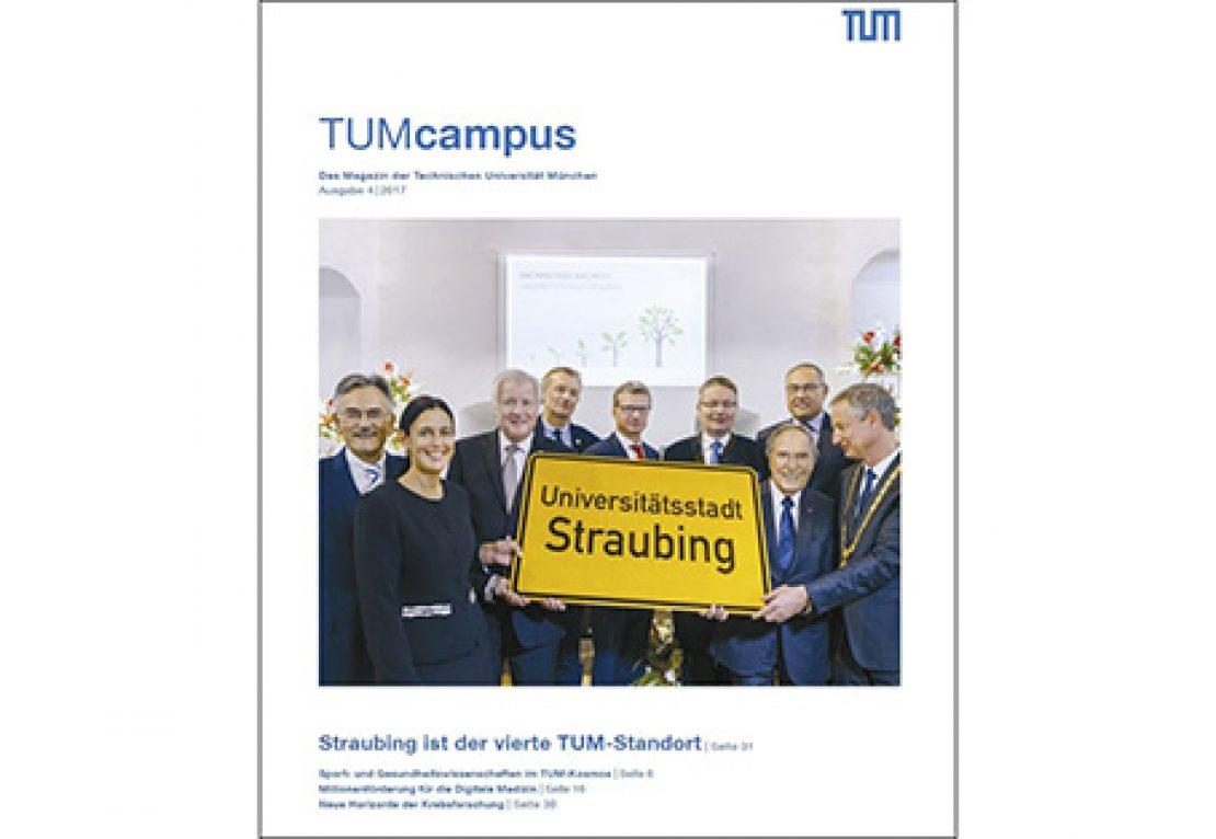 Eine Ausgabe des Universitätsmagazins der TUM