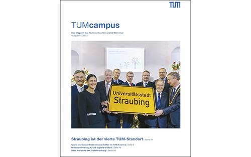 Eine Ausgabe des Universitätsmagazins der TUM.