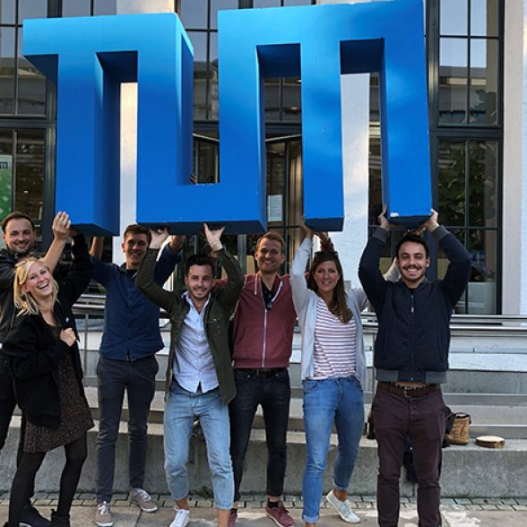 TUM students during the Open Day on October 13, 2018 on the main campus in Munich.