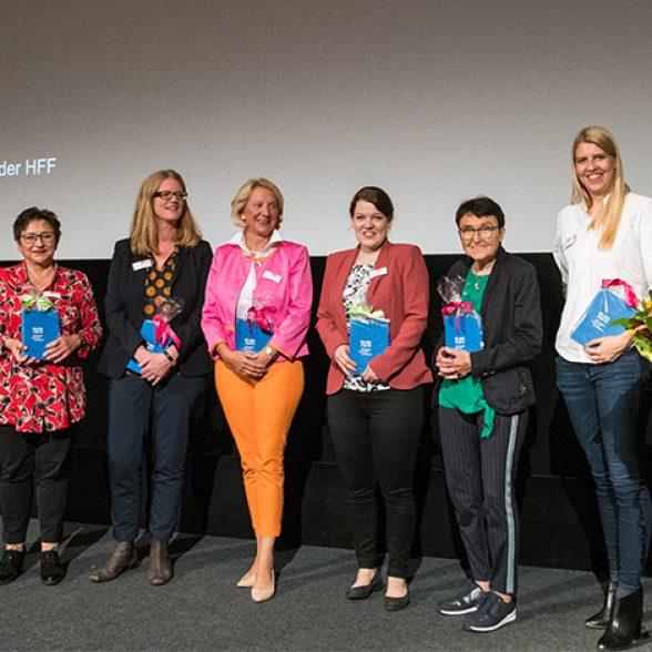 Prof. Dr. Hannemor Keidel, Prof. Dr. Ingrid Kögel-Knabner, Dr. Lilian Busse, Prof. Dr. Birgit Spanner-Ulmer, Franziska Weißörtel, Prof. Dr. Eveline Gottzein, Maria Driesel and TedxTUM presenter Dora Dzvonyar.