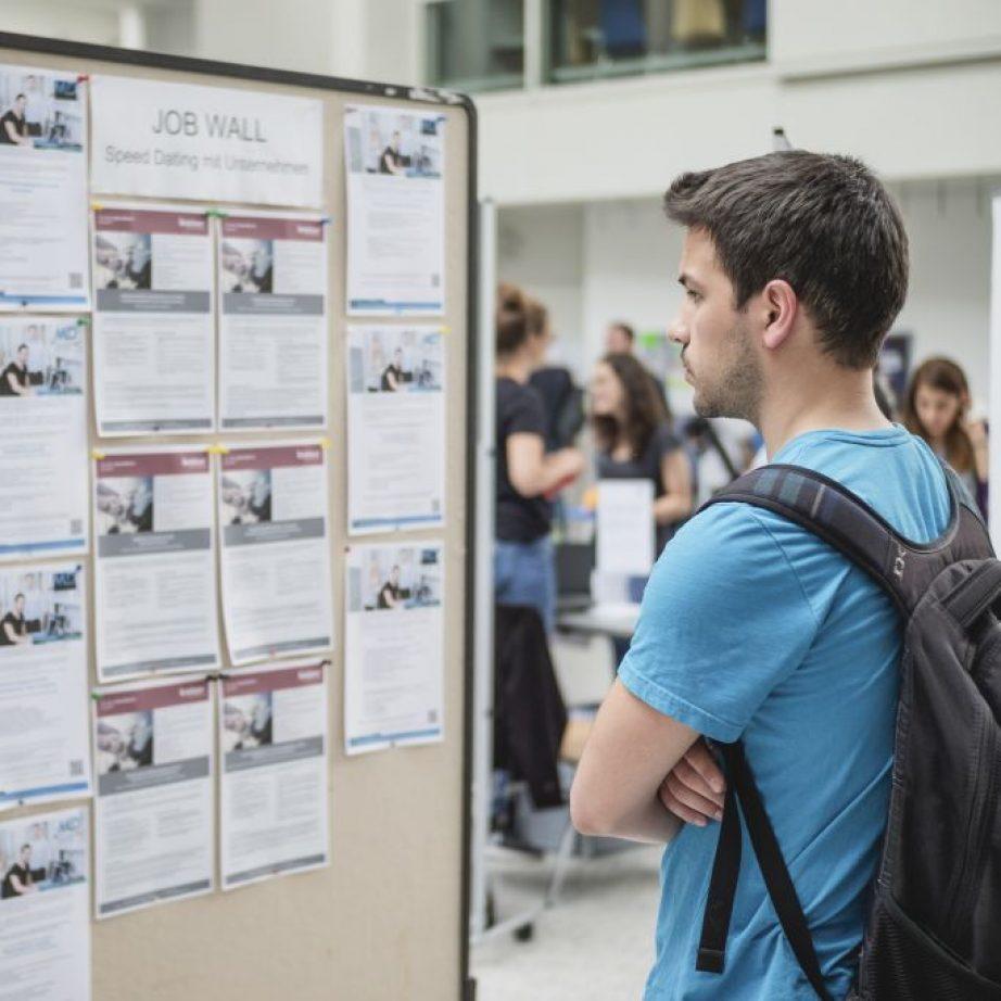 Student at the Job Wall