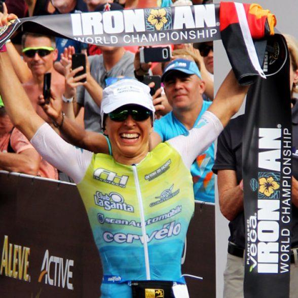 TUM Alumna and Ironman winner Anne Haug.