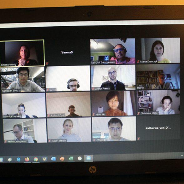 "The participants of the virtual TUM alumni workshop ""Design Your Future Alumni Network"", Technical University Munich."