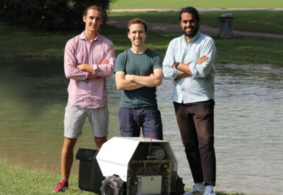 Lukas Wiesmeier, Karl Schulz und Bilal Tariq - angsa robotics