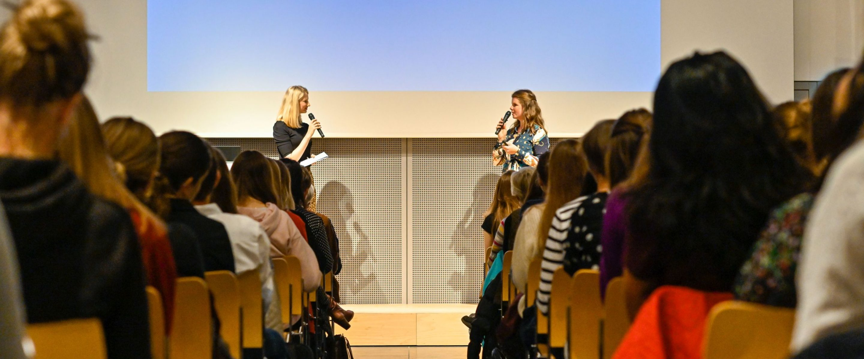 Bei den Women of TUM Talks 2019.